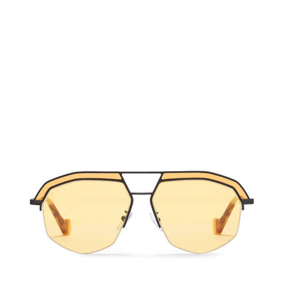 LOEWE Elio Sunglasses Matte Black/Yellow front