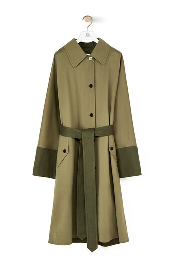 LOEWE Trench Coat Military Green front