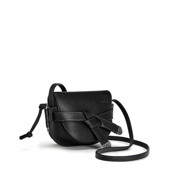 LOEWE Gate Western Mini Bag Black front
