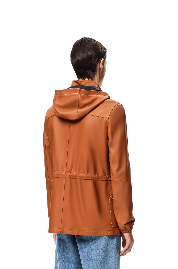 LOEWE Light hiking jacket in nappa Tan pdp_rd