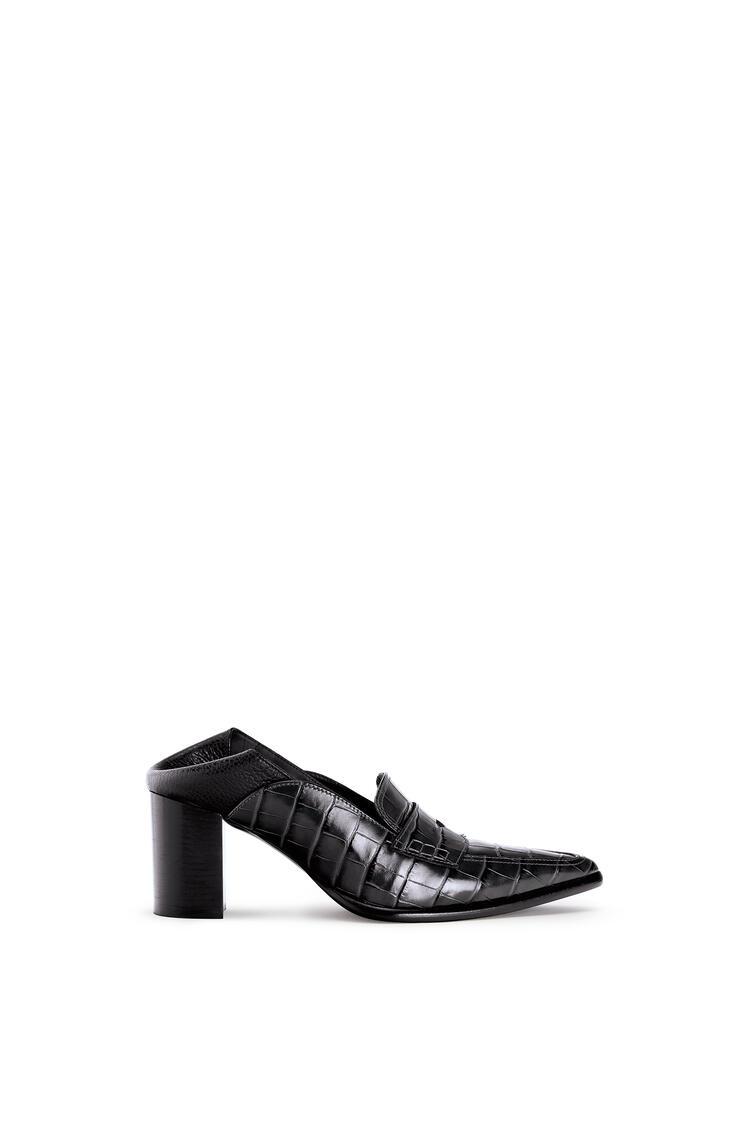 LOEWE Pointy Loafer 70 In Calfskin 黑色/黑色 pdp_rd