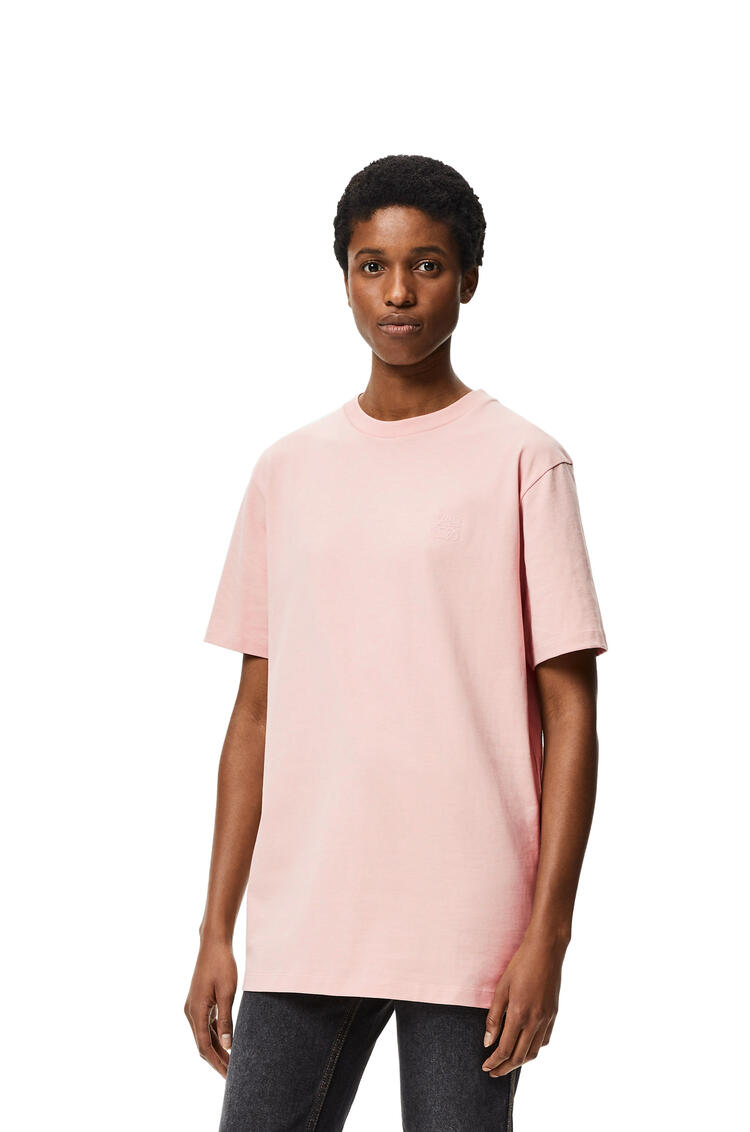 LOEWE Anagram embroidered t-shirt in cotton Pale Salmon pdp_rd