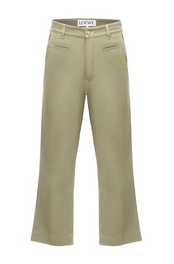 LOEWE Fisherman Trousers Khaki Green front