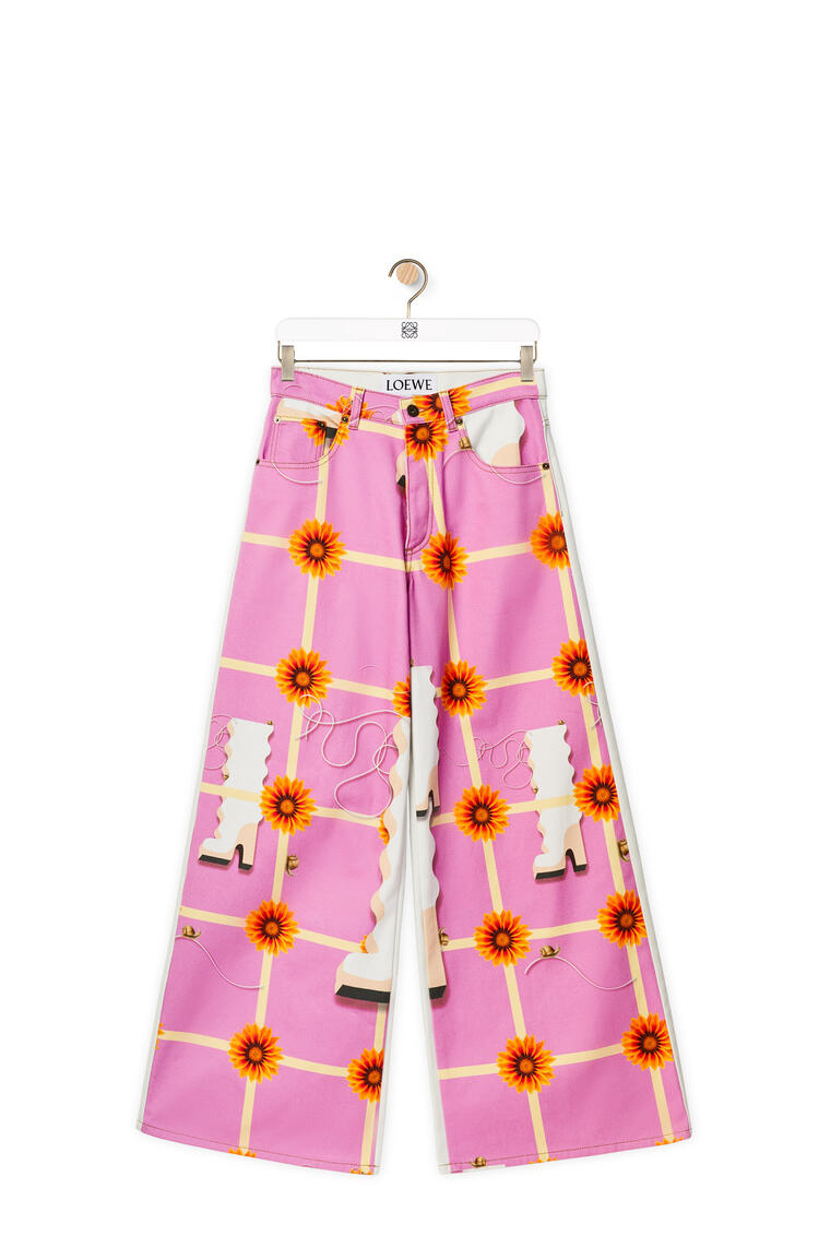 LOEWE Flare denim trousers Multicolor/White pdp_rd