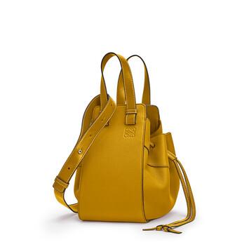 LOEWE Hammock Drawstring Small Bag Ochre front