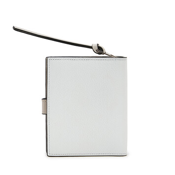 LOEWE Compact Zip Wallet Caolin/Gris Fantasma front