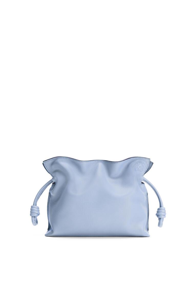 LOEWE Mini Flamenco clutch in nappa calfskin Blue Lilac pdp_rd