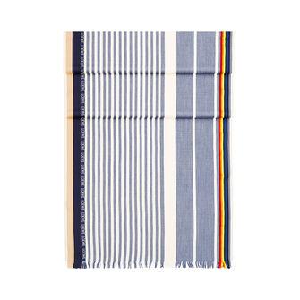 LOEWE 70X200 Scarf Rainbow Stripes Sky-Blue/Beige front