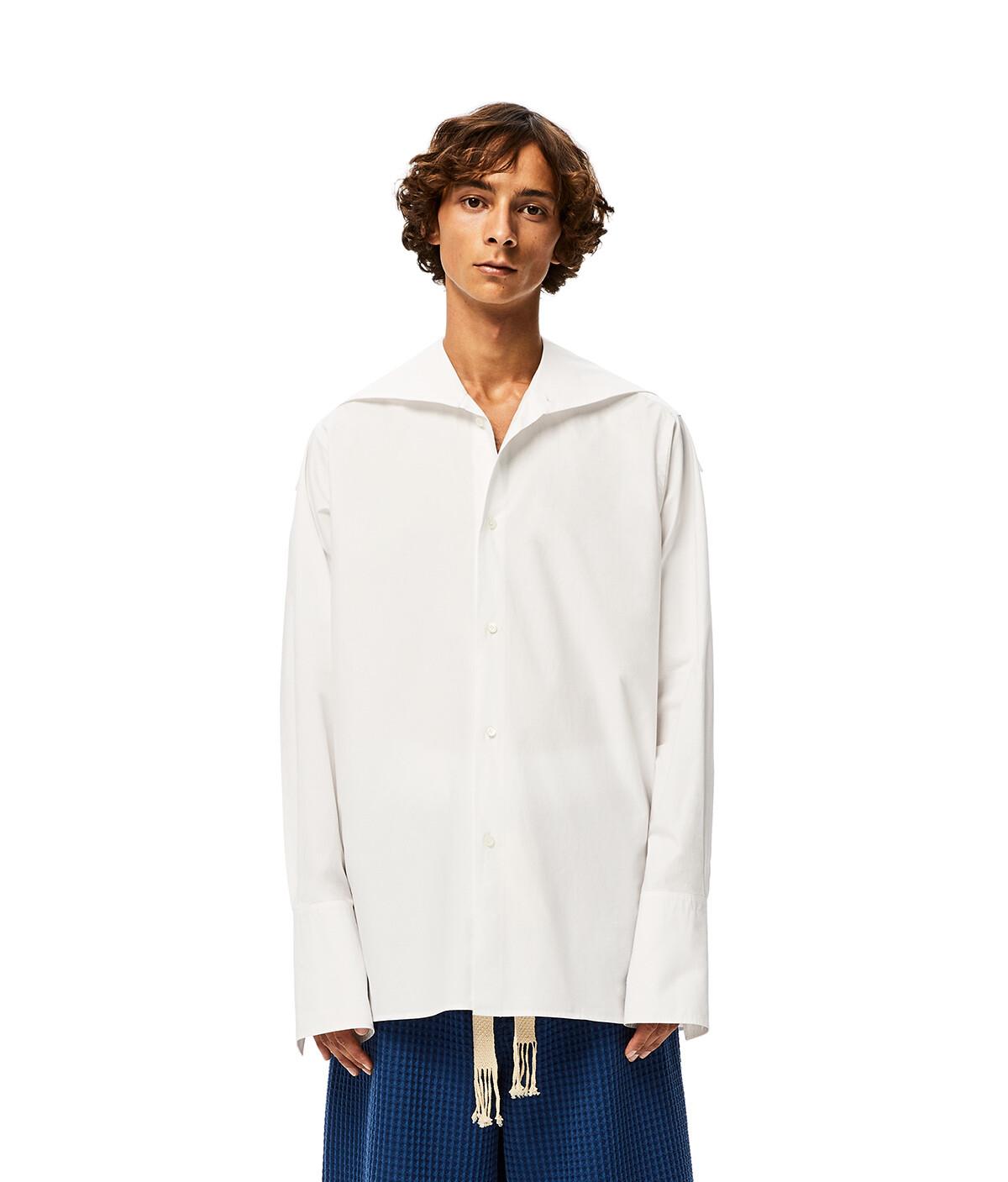 LOEWE Oversize Collar Shirt White front