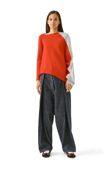 LOEWE Oversize Jeans Blue Denim front