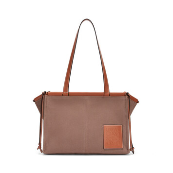 LOEWE Cushion Tote Taupe front
