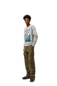 LOEWE Print sweatshirt in cotton Grey Melange pdp_rd