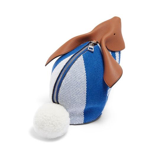 LOEWE Mini Bolso Conejo Rayas Azul Pacifico/Multicolor front