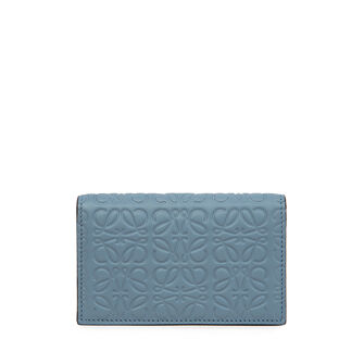 LOEWE Business Card Holder Stone Blue front