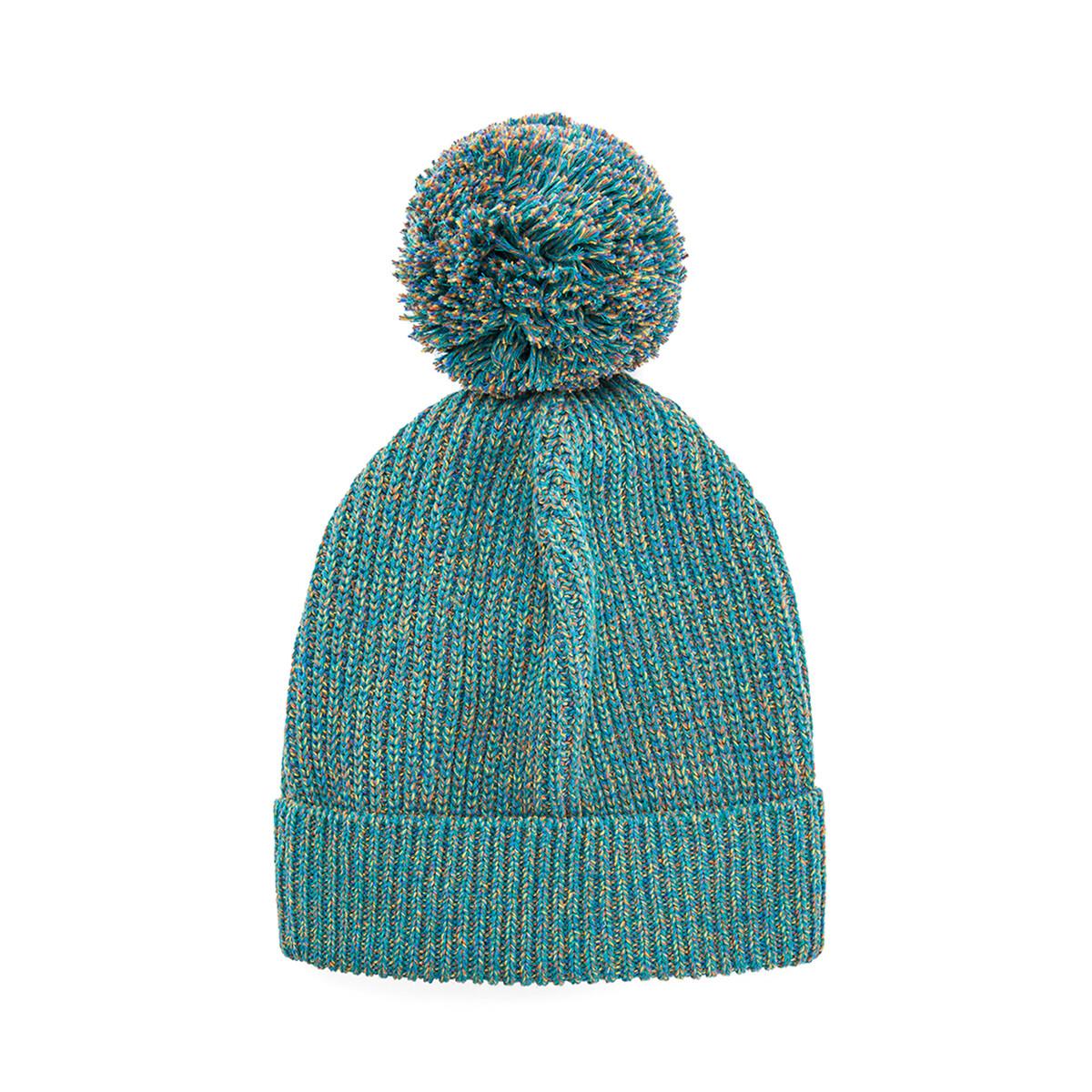LOEWE Eln Melange Knit Beanie Emerald Green front