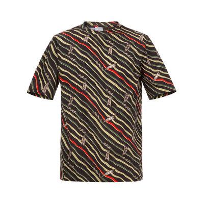 LOEWE T-Shirt Paula Flags Black/Multicolor front