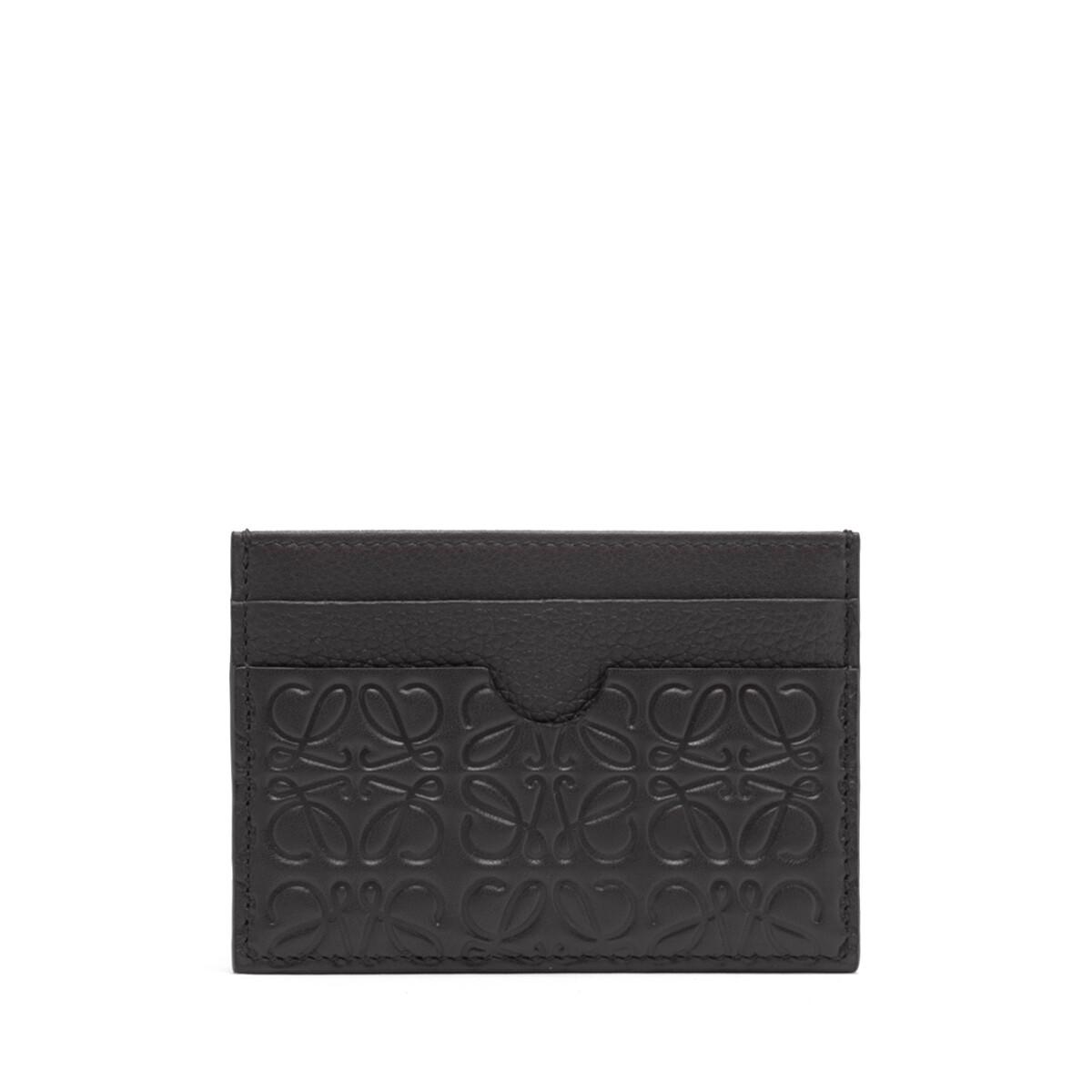 LOEWE Plain Cardholder Linen Negro front