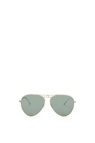 LOEWE METAL KNOT PILOT SUNGLASSES Gold/Green Smoke pdp_rd