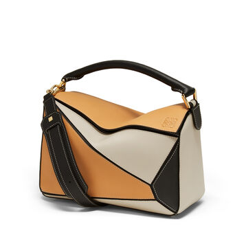 LOEWE Puzzle Bag Amber/Light Oat front