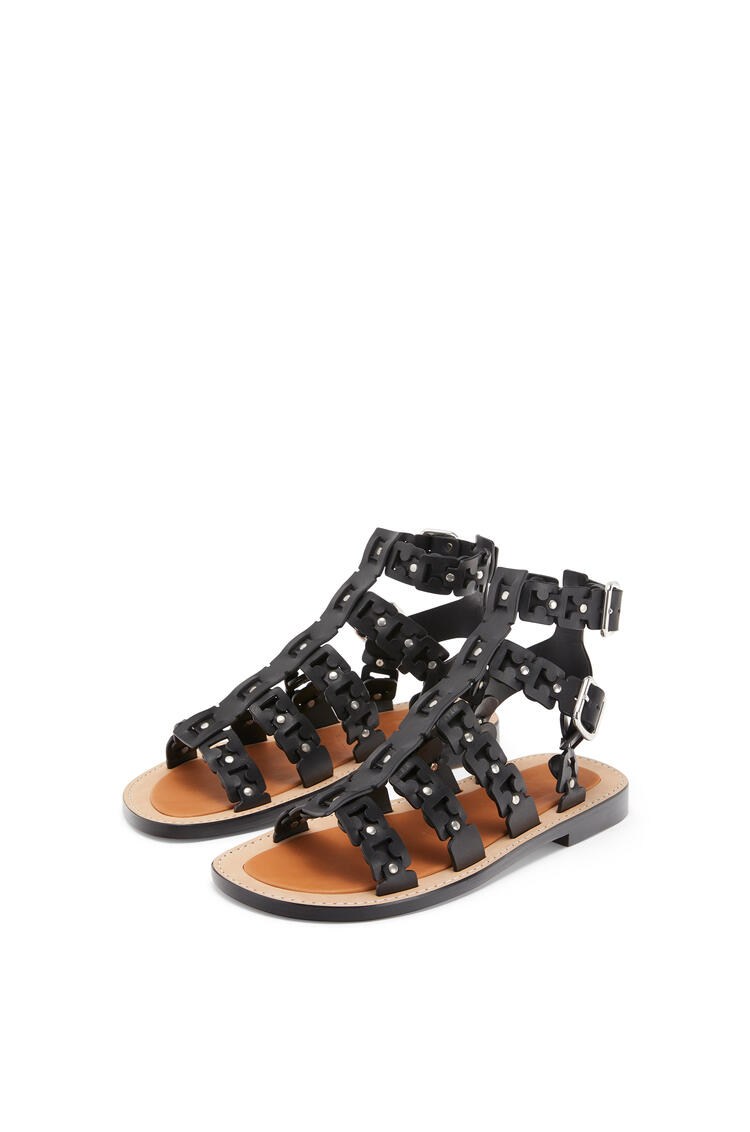LOEWE Spartiate sandal in calfskin Black pdp_rd