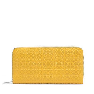 LOEWE Zip Around Wallet Yellow Mango front