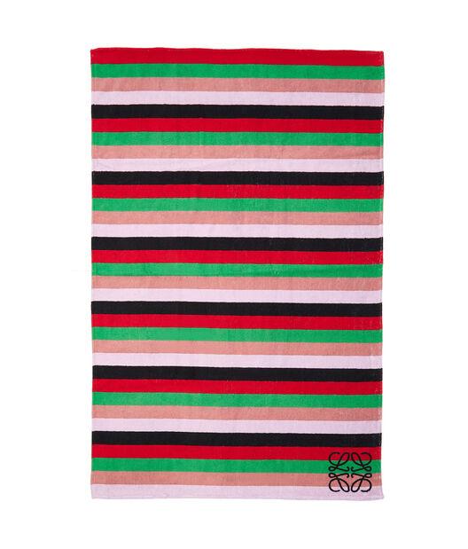 LOEWE 105X170 Towel Stripes Rosa Empolvado/Frambuesa front