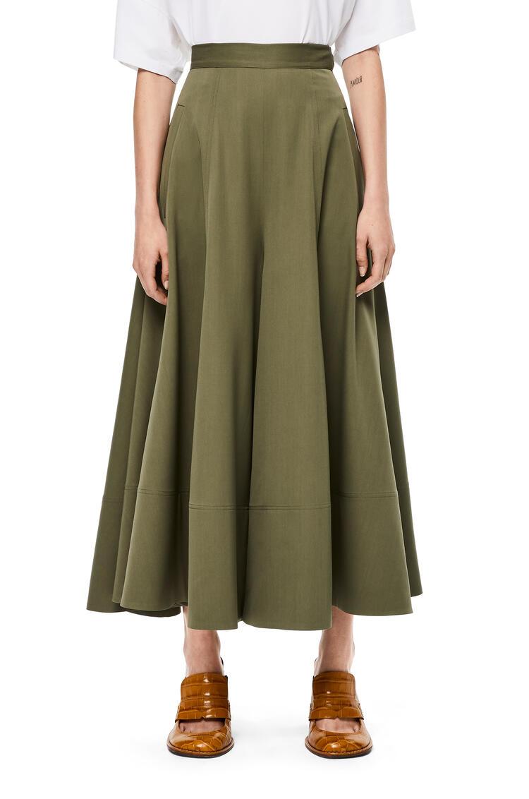 LOEWE Culotte Trousers In Virgin Wool Khaki Green pdp_rd