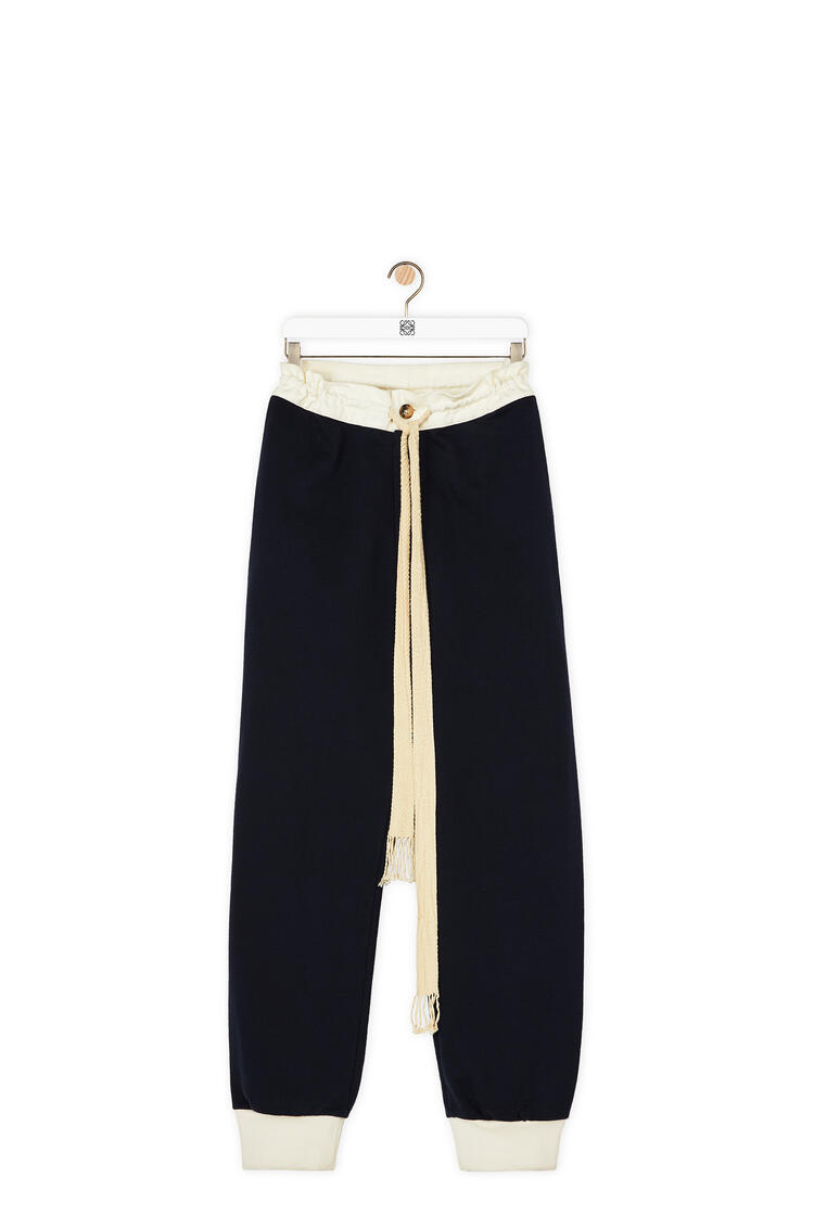 LOEWE Track trousers in cotton Navy Blue pdp_rd