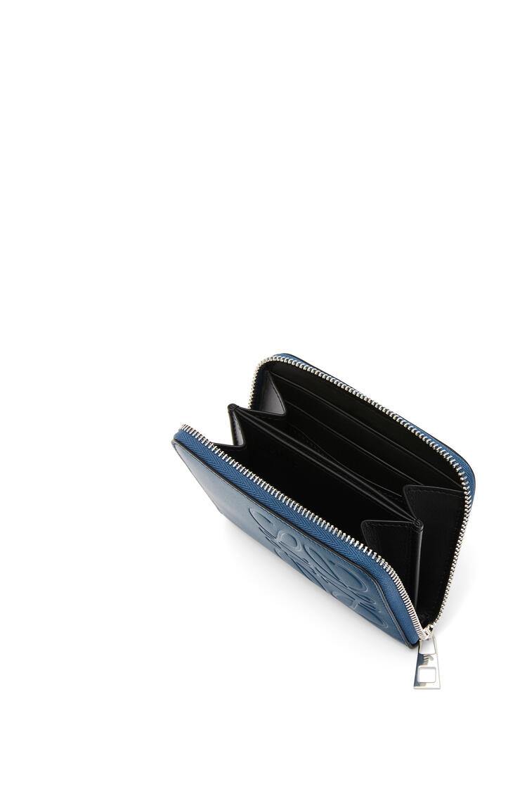 LOEWE 6 card zip wallet in smooth calfskin Indigo pdp_rd