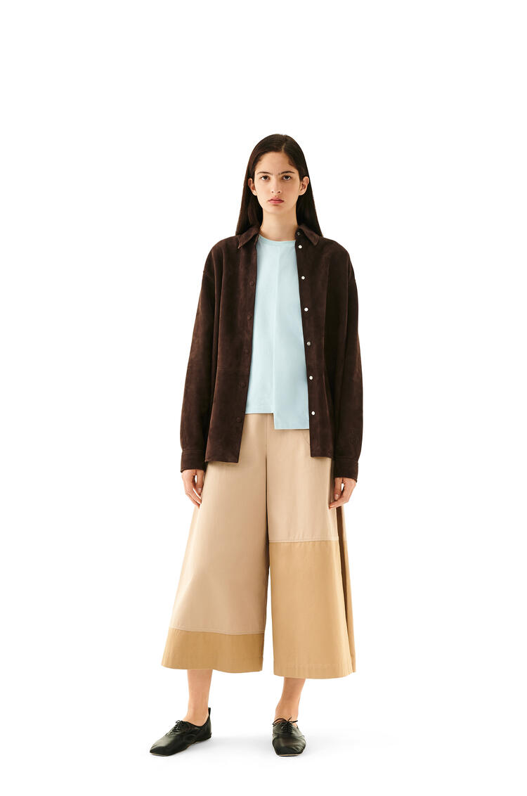 LOEWE Oversize shirt in suede Ebony pdp_rd