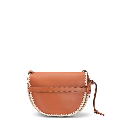 LOEWE Gate Crochet Small Bag Tan front
