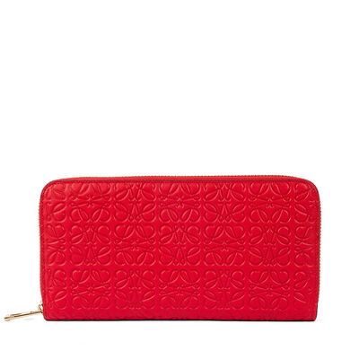 LOEWE Zip Around Wallet Primary Red front