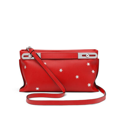 LOEWE Missy Stars Small Bag Scarlet Red/Silver  front