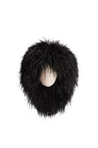 LOEWE Wig hat in feathers Black pdp_rd