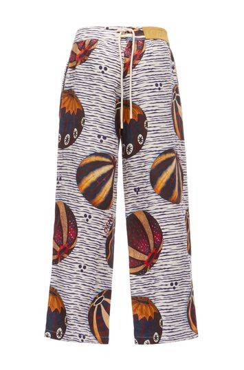 LOEWE Pyjama Trousers Urchins Multicolor/White front