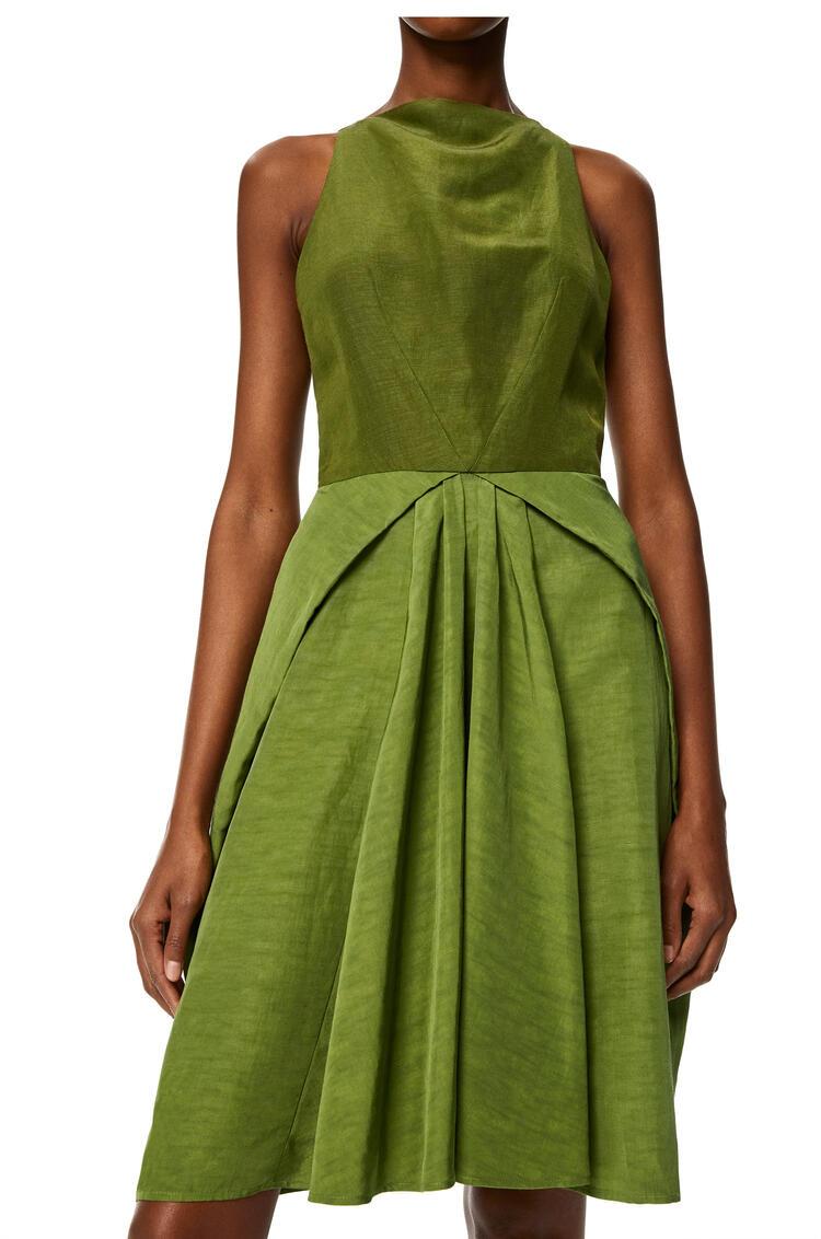 LOEWE Mini dress in linen Pesto pdp_rd