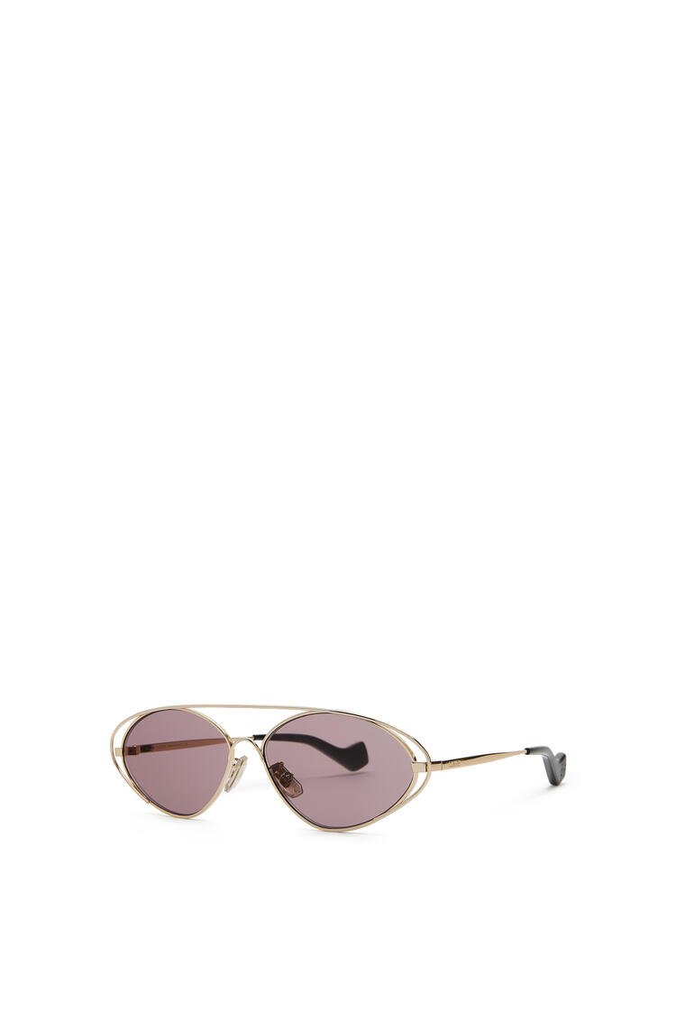 LOEWE Metal oval sunglasses Antique Rose pdp_rd
