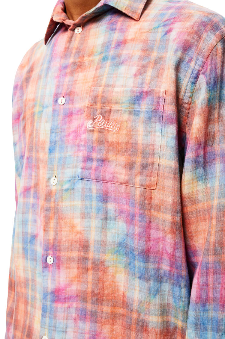 LOEWE Check shirt in tie dye cotton Multicolor pdp_rd