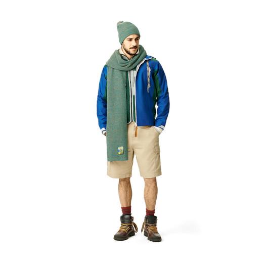 LOEWE Melange Knit Beanie Verde Esmeralda front