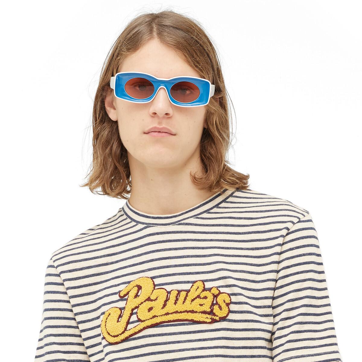 LOEWE Paula Sunglasses Blue/White front