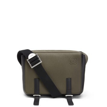 LOEWE Military Messenger Xs Bag Khaki Green/Black front