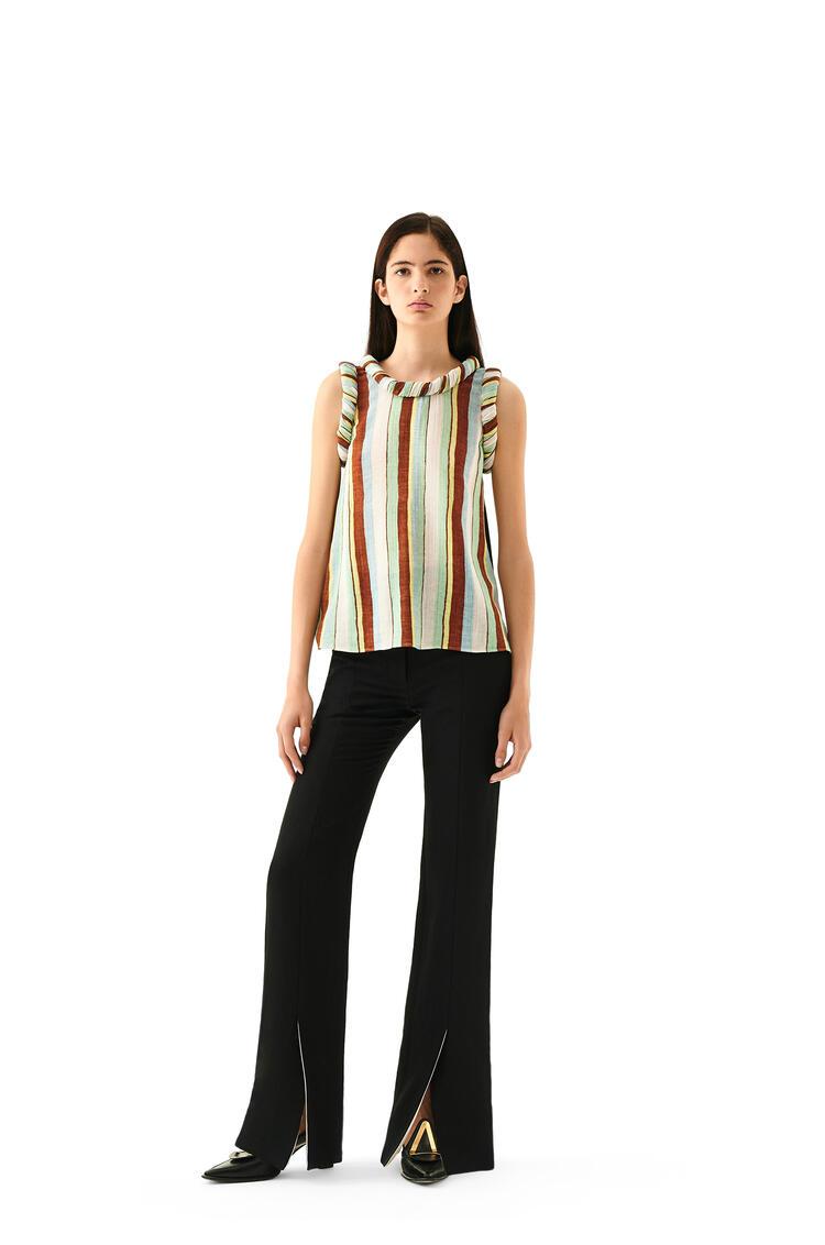LOEWE Slit trousers in linen Black pdp_rd