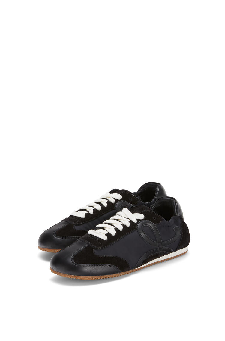 LOEWE Ballet runner in nylon and leather 黑色 pdp_rd