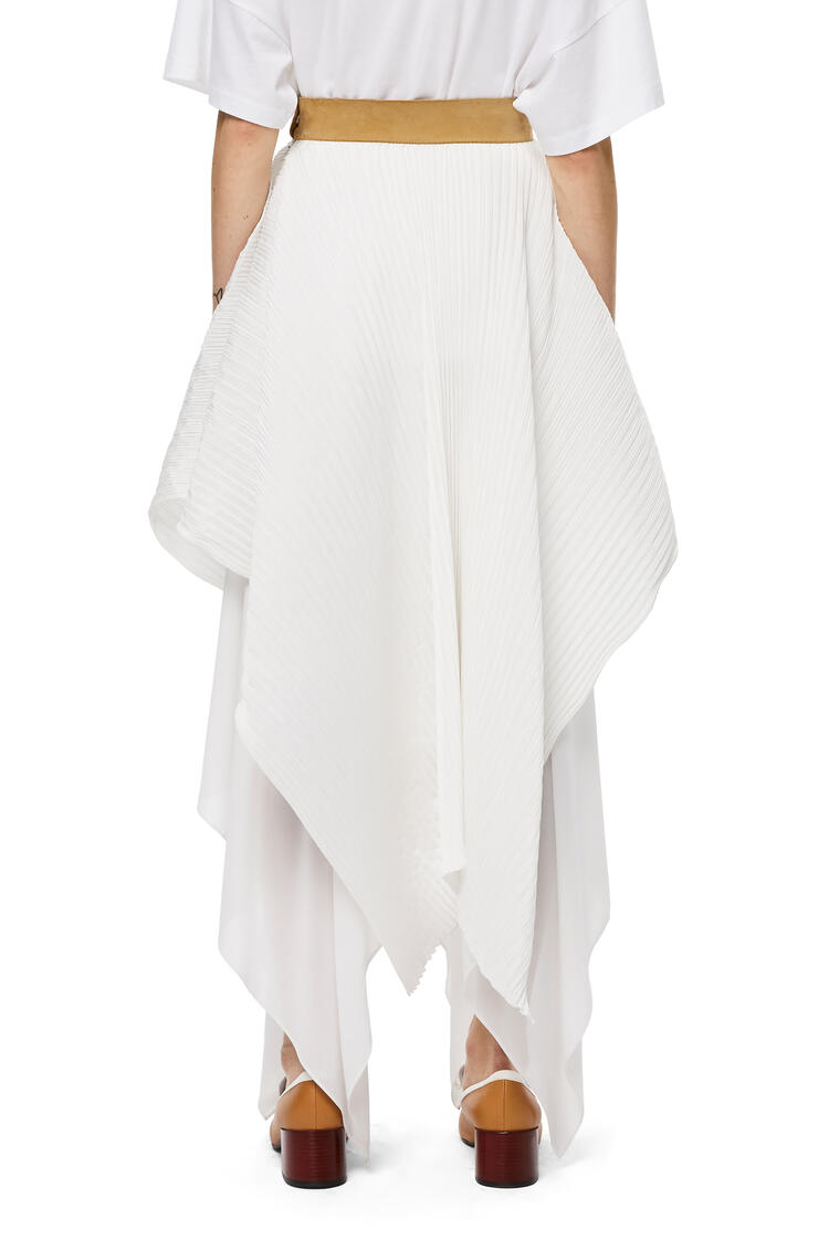 LOEWE Pleated skirt in polyester White pdp_rd