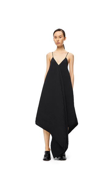 LOEWE Tank pleated dress in polyester Black pdp_rd