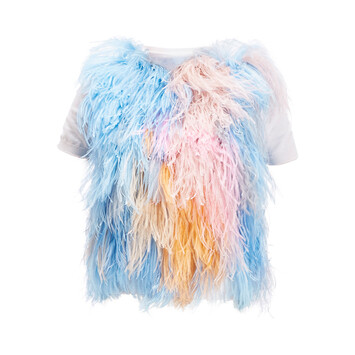 LOEWE Feather Knit Top White/Multicolor front