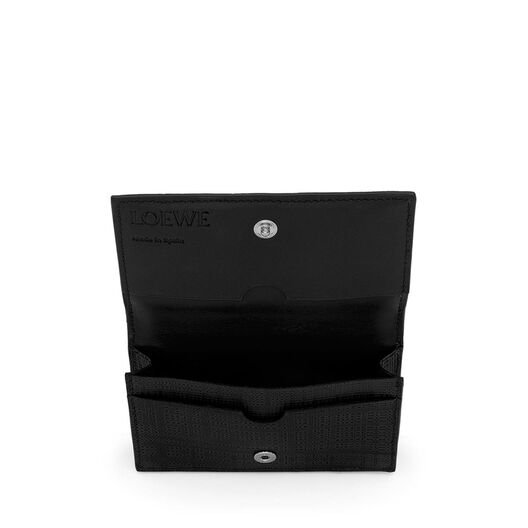 LOEWE Linen Business Cardholder 黑色 front