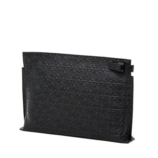 LOEWE T Pouch Repeat Black front