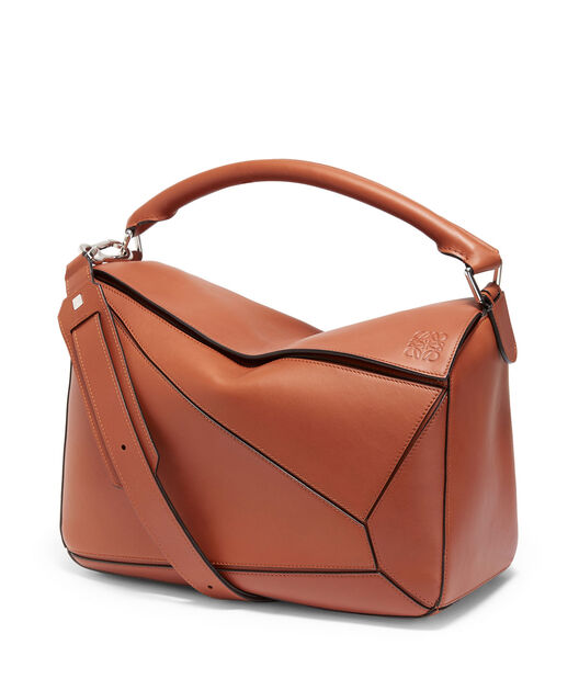 LOEWE Puzzle Large Bag Rust Color front