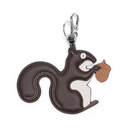 LOEWE Squirrel Charm Dark Brown/Palladium front